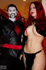 Genetic Mastermind and Clone Creation (BelleChere) Tags: comics costume cosplay marvel madelynepryor goblinqueen mistersinister