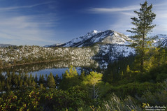 Last Chance (Osamh Alshaalan -  ) Tags: ca sunset usa lake snow ski reflection nature landscape nikon tahoe pl 1635 d300 gnd