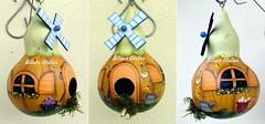 casinha ocre (BILUCA ATELIER) Tags: gourds bees ladybugs cabaas pinturacountry porongos homebirds biluca casinhasdepassarinho