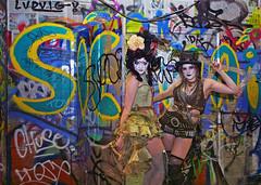 Urban Camoflage (sosij) Tags: london graffiti tunnel londonist graffart appletart leakestreet boomboomclub sharoncooper oldvictunnels charliebuckitt crazygraffitiandtwomodels