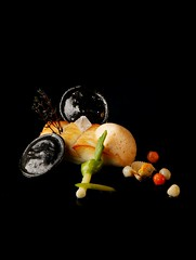 Dos de barbue poch aux coques et moules d'Irlande - Vertig'O restaurant - Hotel de la Paix Geneva (Concorde Hotels Resorts) Tags: seafood gourmetrestaurant vertigorestaurant 1staratthemichelinguide