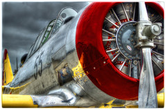 Tuskegee Airmen's Fighter Aircraft (Jjbchic) Tags: aircraft angels handheld hdr worldwar t6 fighterplane airmen tuskegee redtails doublevee hdraddicted dblringexcellence t6doublevee