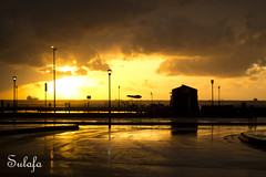 The sky is on fire (Sulafa) Tags: sunset orange gold syria   tartous