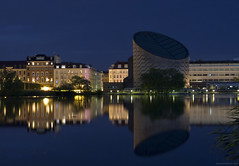 Planetarium Copenhagen - blue hour long exposure (IvanNaurholm - (+80K views - Thank you All)) Tags: city longexposure blue light lake reflection building architecture night copenhagen landscape denmark pond colorful cityscape midsummer lakeside hour romantic planetarium bluehour lightreflection scandinavia danmark reflexion modernarchitecture kbenhavn summernight brightnight planetariet bltime flickrchallengegroup mygearandme scandinavianmidsummer brightnordicnight