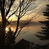 Sunrise (iP 02) (NaPix -- (Time out)) Tags: morning trees panorama mist lake canada reflection silhouette fog clouds sunrise landscape countryside site scenery view environment napix iphone4s