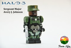 LEGO Halo 3 - Sgt. Johnson (2) (Dawn Hero) Tags: lego johnson halo magnum minifigure halo3 brickarms brickforge customminifig sergeantjohnson dawnhero legosgtjonson