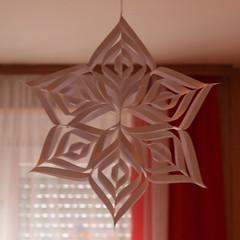 Paper Snowflake (Cobra_11) Tags: snowflake christmas xmas canon weihnachten origami handmade crafts decoration arts noel ornament merrychristmas canoneos ef50mmf18ii selbstgemacht papersnowflake artsandcrafts handgemacht festivespirit manualidad ef50mm118ii elyapm 3dsnowflake canoneos450d digitalrebelxsi navivad