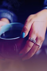 Untiteled !! [2] (SnAfeeR) Tags: morning girls light sun white cute love glass colors girl lady canon lens hope 50mm gold model hands colours peace hand heart picture pic calm mug lovely coffe advertizing accessorize  colooors samaher