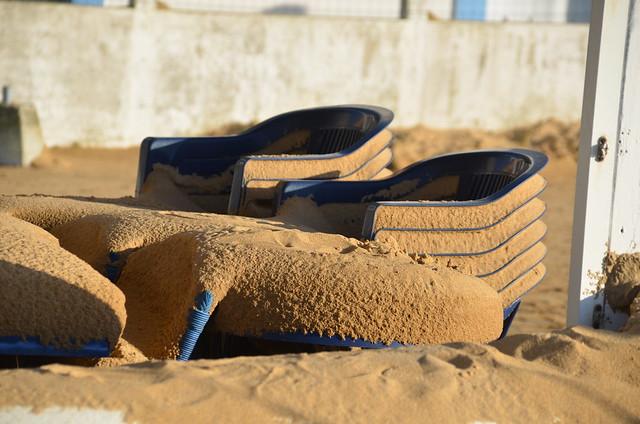 Du sable , La TEMPETE JOACHIM est Passée