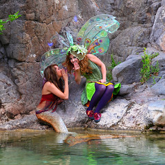 Twig the Fairy & Mermaid friend (gbrummett) Tags: fun fairy fantasy mermaids twig fairies mermaid img2821 twigthefairy canoneos5dmarkiicamera grantbrummett bobbyvyne