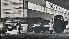 1963 York Trailer Depot - Thames Trader leaving (colinfpickett) Tags: old ford 1930s airport famous memories streetscene nostalgia nostalgic british 1960s essex coaches airliner classictruck trader delivering vintagetruck