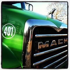 Green Granite (John S1536) Tags: truck square granite mack iphoneography fueloiltruck instagram