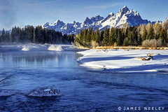 Slow Flow (James Neeley) Tags: mountains landscape snakeriver grandtetons tetons hdr grandtetonnationalpark 5xp jamesneeley flickr23