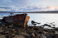(Freester) Tags: portland lagoon dorset fleet weymouth chesilbeach circularpolariser jurassiccoast rustyboat leefilters 06nd 09ndgradhard