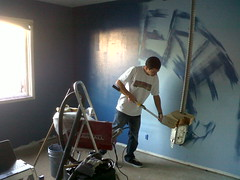 Eriesponsible <3 ([k]vN) Tags: blue friend paint room roller erie