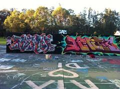 remo and knetik aka mono (NORTHLINE FUNK DADDYS) Tags: mono rip mint walls graff northsydney cliche restinpeace lokey kinetik saph legals sydneygraff northshoregraffiti