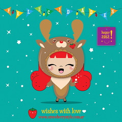 *felicidades* (♥ Rapsha ♥) Tags: cute love illustration design newyear wishes kawaii 2012 chritsmas happyhollidays