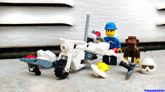 Day 361 (chrisofpie) Tags: chris pie monkey lego doug legos hero heroes minifig roger minifigure bluehat legohero chrisofpie rogeranddoug 365legos dougthechimp
