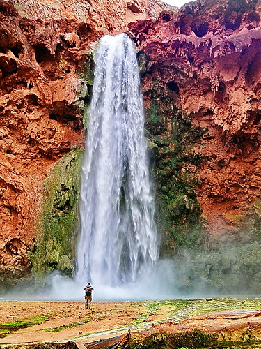 Mooney Falls - Eric shoots the mist - I'm not as crazy (this time)