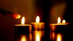 ibelong .. (la6ifah) Tags: light orange fire candles candle hand finger miss belong