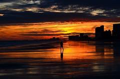 Walk into the sunset (Darren-) Tags: ocean sunset sea sky usa sun beach nature outdoors myrtlebeach coast south resort shore carolina coastline horrycounty blinkagain bestofblinkwinners nikond5100