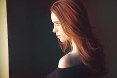 Marianne IX - Explored #7 (hildrethphoto) Tags: light red window vintage hair soft natural redhead redhair windowlight