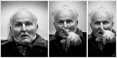 Mr. Luigi || During the Shooting - Eboli (SA) Italy (Francesco Agresti  www.francescoagresti.com) Tags: street portrait people blackandwhite bw italy monochrome person photography blackwhite triptych bokeh sony streetphotography vignetting helios triptychs nex helios58mm nex3 sonynex s8un3no frankies8un3no