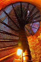 Steps (Gary Burke.) Tags: lighthouse ny newyork abstract stairs photoshop canon eos rebel li suffolk steel bricks longisland stairway historical nautical dslr hdr fireisland suffolkcounty fireislandlighthouse photomatix garyburke cs5 klingon65 t1i canoneosrebelt1i