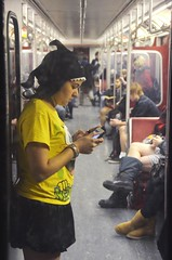 No Pants Subway Ride 2012- 4418 (sniderscion) Tags: no pants subway ride improv toronto urban prank funny culture jamming ttc commute without riding public transit jokes blogto ontario canada canadian nikon d7000 sniderscion scott snider nikkor 18200 3556 g nikkor182003556g nopants