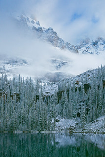Mount Huber and Seven Veils Falls in Yoho National Park