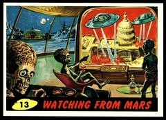 "Mars Attacks #13 ""Watching From Mars"" (cigcardpix) Tags: mars vintage advertising comic graphic ephemera fantasy horror sciencefiction attacks reprint tradecards gumcards"