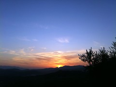 Ciociaria sunset (SS) Tags: pink blue light sunset red summer vacation sky italy orange sun white mountain black tree nature beautiful weather silhouette yellow clouds composition landscape photography evening countryside colorful mood glow dof view walk branches hill perspective olive august panoramica layers framing bianco nero depth lazio celeste iphone ciociaria arpino natureselegantshots