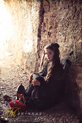 Haunted -2 (hmarynka.) Tags: lighting girl fairytale photography costume sad victorian dramatic haunted oldhouse mystical ghostly oldtime