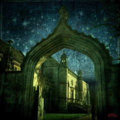 Starry Starry Night (Hotfish) Tags: uk abbey arch wiltshire lacock gothicarch starrystarrynight