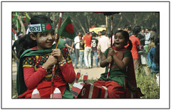Festive mood (||-SAM Nasim-||) Tags: red green beauty freedom kid nikon war fighter child nation victory dhaka portfolio liberation bangladesh bany d90