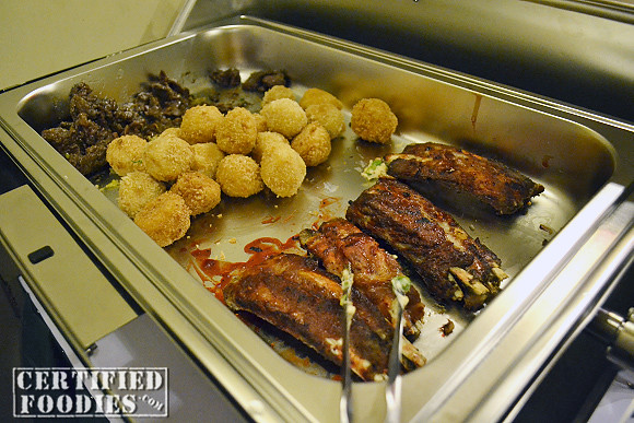 Beef Salpicao, Croquettes, and ribs