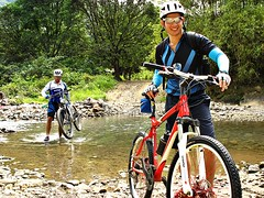 bicycle (my two sons) explore (DOLCEVITALUX) Tags: mountain bike bicycle river crossing philippines rizal rodriguez montalban puray