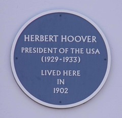 Photo of Herbert Hoover blue plaque