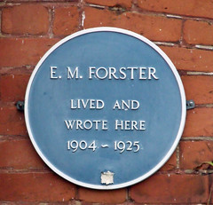 Photo of E. M. Forster blue plaque