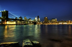 Ankle Deep in Brooklyn (@!ex) Tags: city newyork skyline night lights pentax brooklynbridge k5 abigfave technicolordream nycsigma816mmf4556dchsm