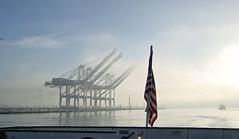 Morning Commute (channel locks) Tags: california fog ferry estuary sanfranciscobay alameda