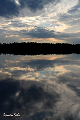 Verses of Nothing (Explored) (Ramen Saha) Tags: sunset cloud lake reflection water lakecrabtree sundog cloudformation cloudreflection hiddenrainbow ramensaha crabtreecountrypark