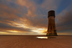 The Old Lighthouse at Spurn Point (mark_mullen) Tags: uk england lighthouse seascape abandoned beach landscape sand watertower disused ripples hull eastyorkshire spurnpoint canon1740f4 spurnhead canon1dsmkii riverhumber markmullenphotography leehardgrad