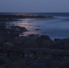 Moonlight #2 ({JO}) Tags: ocean longexposure sea beach rocks waves moonlight coolum pointarkwright