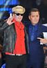 Michael Madsen with host Brian Dowling Celebrity Big Brother Live Final held at Elstree Studios. London, England