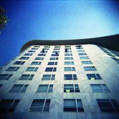 [climbing up the walls] ([noone]) Tags: 120 6x6 valencia holga lomo xpro crossprocessed procesocruzado medium format radiohead medio formato cfn formado climbingupthewalls processoinverso cortesvalencianes edificiosorolla