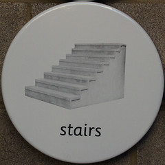 stairs (Leo Reynolds) Tags: xleol30x squaredcircle sqlondon sqset072 signinformation canon eos 7d 0017sec f67 iso800 50mm hpexif xxx2012xxx sign