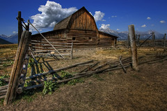 IMG_2157 (Explored) (simon james_f) Tags: usa abandoned barn america ruins wyoming hdr jacksonhole moulton grandtetonnationalpark sjf mormonrow tonemapped