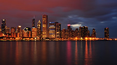 Colorful Chicago... (Seth Oliver Photographic Art) Tags: nightphotography chicago clouds reflections landscapes iso200 illinois nikon midwest nightlights cities cityscapes skylines lakemichigan lakeshoredrive nightshots trumptower southloop chicagoatnight pinoy johnhancockbuilding chicagoskyline 30secondexposure secondcity windycity longexposures chicagoist d90 wetreflections lakepointetower tonemapped cityofchicago cityofbigshoulders bcbsbuilding manualmodeexposure setholiver1 aperturef220 18105mmnikkorlens circularpolarizers tripodmountedshot remotetriggeredshot wbsettocloudy urabsncapes croppedto16x9format