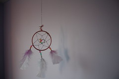 (rach !) Tags: pink white cute diy beads purple pastel dream sparkler dreamcatcher feathesr